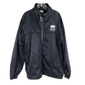 Jackets & Blazers - Official USA Olympics black track jacket
